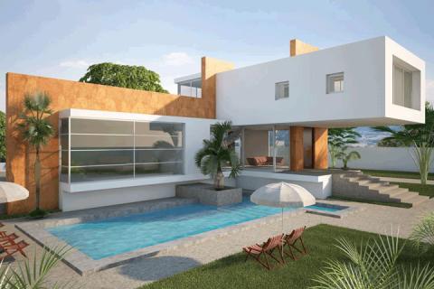 Casa 3D y Piscina